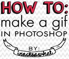 How to make a gif on photoshop via IROCKSOWHAT
