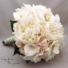 blush cala lily gold wedding flowers - Google Search