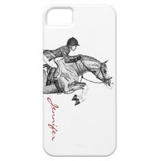 Horse art - Hunter Pony Pointillism iPhone 5/5S Case