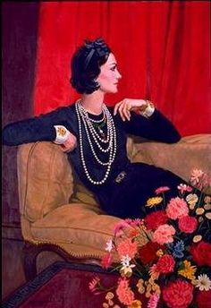 Coco Chanel - love this picture of Coco