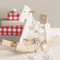 Wooden Rocking Horse from Bajo Toymakers Horse Nursery, Little White Company, Pretty Baby, Bedtime, Cosy, Kids Room, Horses, Entertaining, Children