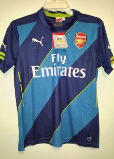 NEW Puma Arsenal Third Home Stadium Soccer Match Jersey Womens XS L Fly  Emirates a59a13aae