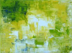 """Color of Spring Original Abstract Acrylic Painting 18"""" x 24""""on Wrap Around Canvas. @Lisa Strong"""
