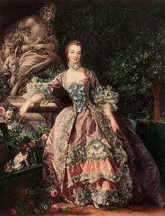 Madame de Pompadour Lithograph after a Painting by Francois Boucher