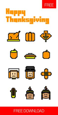 Free Happy Thanksgiving Icons available for free download at 4vector.com. Check out our collection of more than 180k free vector graphics for your designs. #design #freebies #halloween #vector Here we are once again with a fresh new set of freebies - 12 thanksgiving icons to celebrate the harvest festival that falls on the fourth Thursday of November in the U.S..