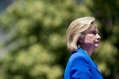 June 13, 2015: Hillary Clinton, former secretary of state and 2016 Democratic presidential candidate, pauses while speaking at her first campaign rally at Four Freedoms Park on Roosevelt Island in New York.