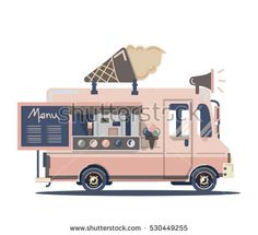 Retro Vintage Ice Cream Truck#auto #automobile #background #