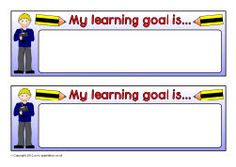 My learning goal is... editable pupil target strips