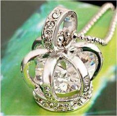 Princess crown necklace.