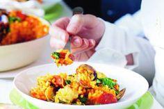 Chorizo, Paella, Fried Rice, Fries, Menu, Chinese, Ethnic Recipes, Menu Board Design, Nasi Goreng