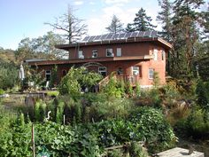 Eco-Sense home with rain water irrigated gardens   by Eco-Sense Living
