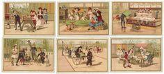 CHROMOS BON MARCHÉ - 1889/1891 - JOUET. Série complète des 6 chromos 121 x 82 mm -[...] | Auction.fr