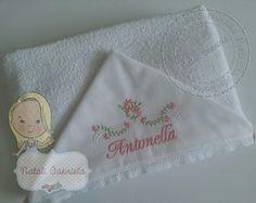 Toalha de banho com capuz provençal