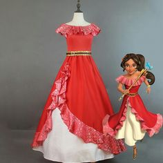 Selling Elena of Avalor Princess Elena cosplay costume Red Embroidery Elena dress Halloween costumes for adult women party dress Disney Princess Dresses, Princess Costumes, Disney Dresses, Cosplay Costume, Cosplay Dress, Costume Dress, Costume Rouge, Belle Costume, Belle Cosplay
