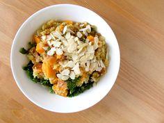 Sweet Potato & Kale Pilaf @ www.skatingtomato.com #cheap #healthy #vegan Sweet Potato Kale, Skating, Originals, Vegan, Healthy, Recipes, Food, Roller Blading, Recipies