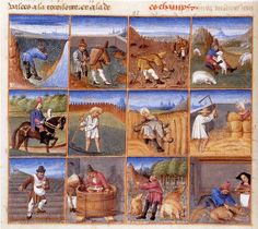 Medieval occupations on pinterest medieval 14th century for Calendrier jardin
