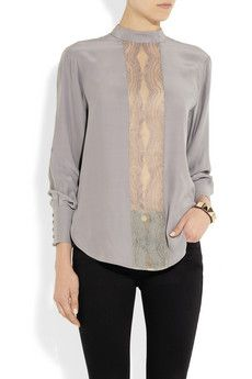 LOVER  Lace-trimmed silk blouse  $480
