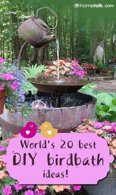 World's 20 Best DIY Birdbath Ideas!