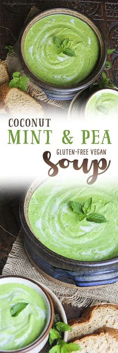 Coconut Mint Pea Soup - absolutely delectable and creamy by Trinity - #glutenfree #vegan recipes