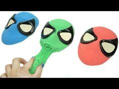 Aprende los colores con Spiderman Plastilina Play-Doh arena cinética Superhéroes Videos para Niños - YouTube