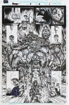 Prophet 5 page 9 Flashback to Jungle in Vietnam, in Matthew Kaczynski's Prophet Comic Art Gallery Room Comic Book Artists, Comic Artist, Comic Books Art, Black White Art, Image Comics, Marvel Dc Comics, City Photo, Art Gallery, Cool Stuff