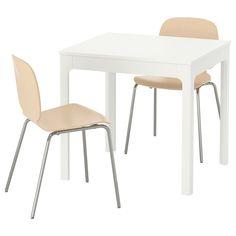 IKEA - EKEDALEN / SVENBERTIL Table and 2 chairs white, birch