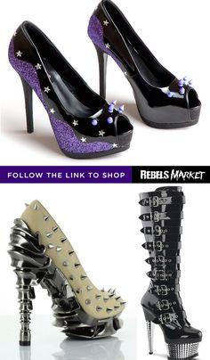 Shop goth spikes heels online at RebelsMarket.