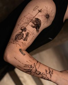 Eagle Tattoo Arm, Wolf Tattoo Sleeve, Eagle Tattoos, Tattoo Sleeve Designs, Sleeve Tattoos, Cool Forearm Tattoos, Body Art Tattoos, Hand Tattoos, Lost Tattoo