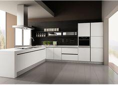 博洛尼 整体橱柜定制 整体厨房装修 石英石台面现代风格尼泊尔-tmall.com天猫