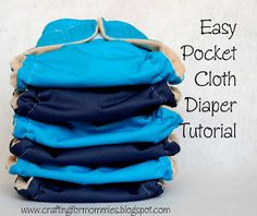Easy pocket cloth diaper tutorial, at least I hope it's easy.