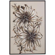 Bassett Mirror Old World Floral Sketch Art