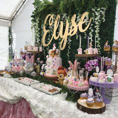 ~ ~Elyse celebrating her Birthday. Thank you Vanessa for trusting us with your daughter's Birthday. 1st Birthday Foods, 1st Birthday Party For Girls, 1st Birthday Themes, Diy Birthday Decorations, Baby Birthday, Baby Girl Shower Themes, Baby Shower Princess, Fairy Baby Showers, Bambi Baby