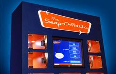 The Swap-o-matic Vending Machine - Designed For Users To Give, Take, Or Swap Anything That Fits Inside The Compartments