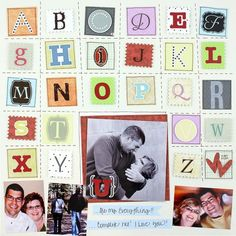 Alphabet Soup NSD Challenge Scrapbook Layout Project Idea