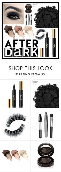 """Blackout"" by ladybug71181 ❤ liked on Polyvore featuring beauty, Yves Saint Laurent, Urban Decay, Sephora Collection and Anastasia Beverly Hills"