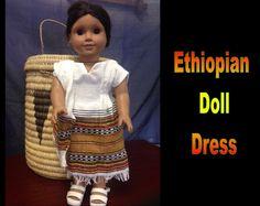 Ethiopia Doll Dress 4 by CCIWorld on Etsy, $15.00   #Ethiopia #doll #adoption #internationaladoption #dollclothes #orphans #ethiopiandresses #Guatemala