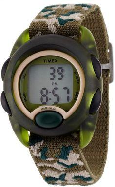 Timex Kids' T71912 Digital Camo Elastic Fabric Strap Watch - http://www.watchesandstuff.com/timex-kids-t71912-digital-camo-elastic-fabric-strap-watch/