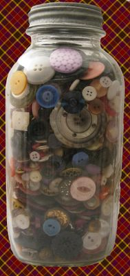 jar o buttons~ my mom loved collecting old buttons...and storing them in old jars.