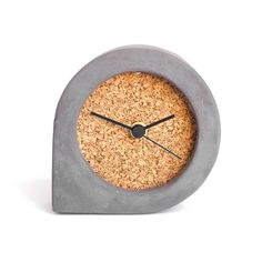 Hey, I found this really awesome Etsy listing at https://www.etsy.com/listing/460274986/dark-concrete-and-cork-table-clock-comma