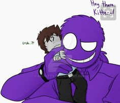 Vincent: Hello there, Kitten~! Jeremy: U-Uh. Someone had asked me to draw this.in so long. Vincent Fnaf, Rebornica Fnaf, Fnaf Security Guards, Creepypasta Slenderman, Fnaf Night Guards, Freddy 's, William Afton, Circus Baby, Night Terror