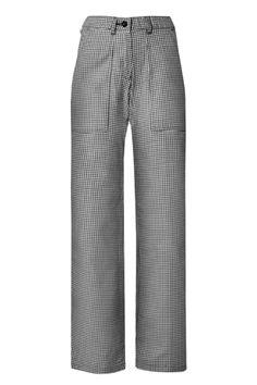 5313 Dames Koks-Bakkersbroek van 100% katoen in zwart/ witte pepita ruit, en heeft diepe steekzakken en 1 kontzak. Is voorzien elastische tailleband achter.