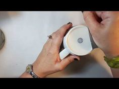 Patricia Roberts-Thompson: Sharpen your Polymer Clay Blades using the bottom of a ceramic cup - YouTube