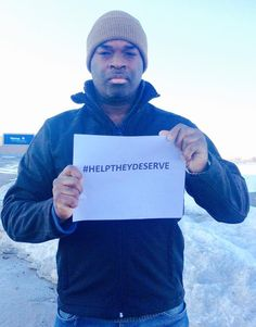 #HelpTheyDeserve - Wolf, Paintball Celebrity, showing his support.