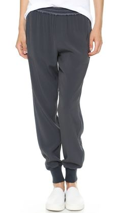 Vince Ribbed Cuff Jogging Pants