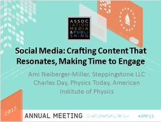 Social Media: Crafting Content, Making Time to Engage #AMP15
