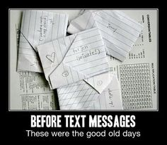 Every day!!! When my best friend in high school and I would have different classes we would write notes then trade off...