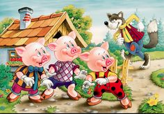The three little pigs are iconic characters because they are so human-like and it is an enjoyable story.