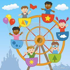 carnival ferris wheel clip art | Kids on the Ferris Wheel cover photo - 25515238 - Timeline Images