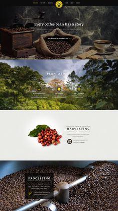 Coffee Brand Parallax Website Concept by Ales Nesetril Creative Web Design, Web Design Tips, Best Web Design, Website Layout, Web Layout, Layout Design, Logo Design, Homepage Design, Web Design Agency