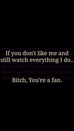 You're a fan!!
